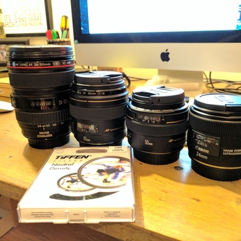 Rent 24mm, 50mm, 85mm, 24-105mm Canon EF Lenses