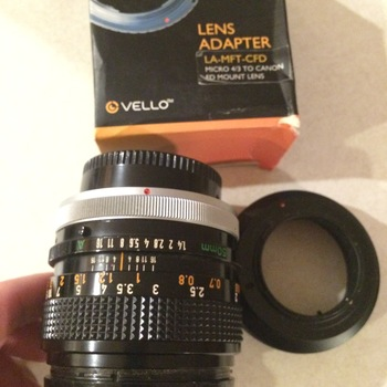 Rent Canon FD 50mm 1.4 with Vello Lens Adapter M4/3