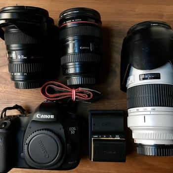 Rent Canon 5D Mark III w/ 3 batteries, 96GB memory, 16-35 lens, 24-105-lens, 70-200 lens