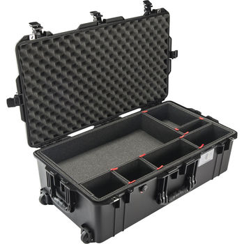 Rent Pelican 1615AirTP Wheeled Check-In Case (Black, with TrekPak Insert)