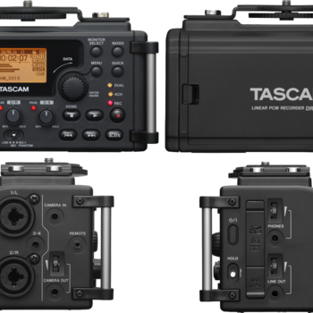 Rent Tascam DR-60D 4-Channel Audio Recording Device for DSLR and Video Cameras