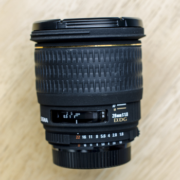 Rent Sigma 28mm f/1.8 EX DG for Nikon F Mount
