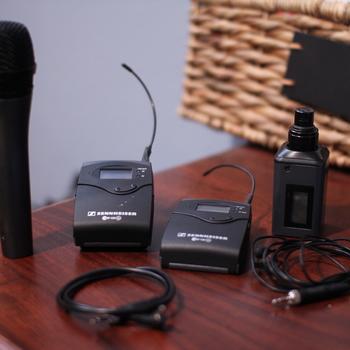 Rent Sennheiser Lavalier and Handheld Wireless microphone