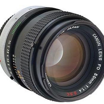 Rent Canon 50mm F/1.4 SSC BL FD Mount Lens