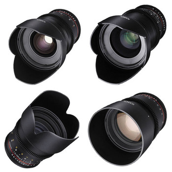 Rent Rokinon Cine T1.5 Lens Set, 24mm, 35mm, 50mm, 80mm