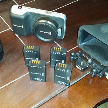 Rent Blackmagic Pocket Cinema Camera (BMPCC) w/external power + Hoodman