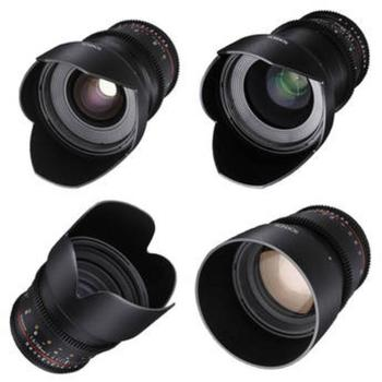 Rent Rokinon Prime DS Cinema Lens Set of four (4) for Canon