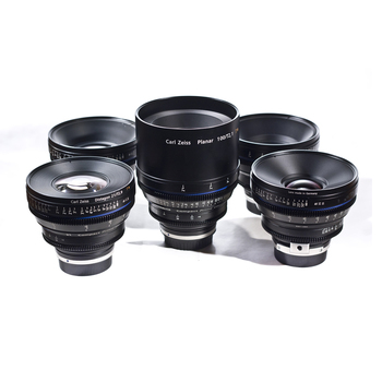 Rent Zeiss CP.2 5 lens kit