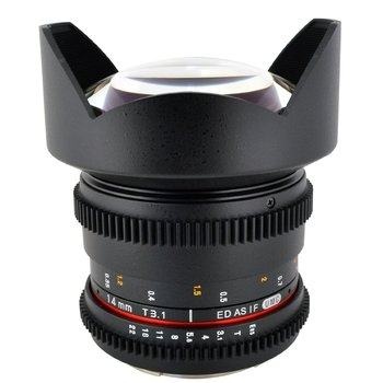 Rent Rokinon Cine Prime 14mm T3.1 Cine Wide Angle Lens for Canon with De-Clicked Aperture for Canon EF