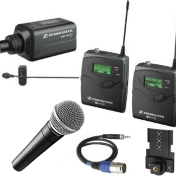 Rent Sennheiser Lavalier and Handheld Wireless Microphone