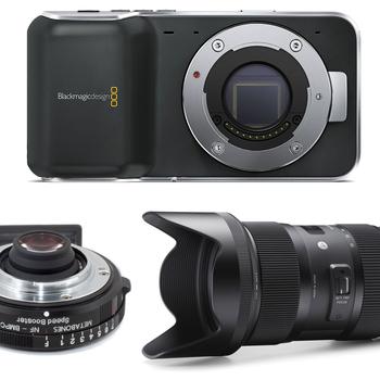 Rent Indie Camera Package - Blackmagic Pocket + Metabones Speedbooster + Sigma 18-35 Lens