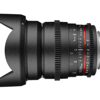Rent Rokinon 24mm T.1.5 Canon EF mount