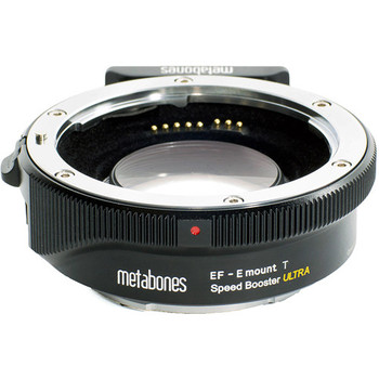 Rent Metabones T Speed Booster Ultra 0.71x Adapter for Canon Full-Frame EF-Mount Lens to Sony E-Mount APS-C Camera. Speedbooster
