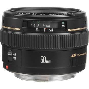 Rent Canon EF 50mm f/1.4 USM Standard & Medium Telephoto Lens for Canon SLR Cameras - Fixed