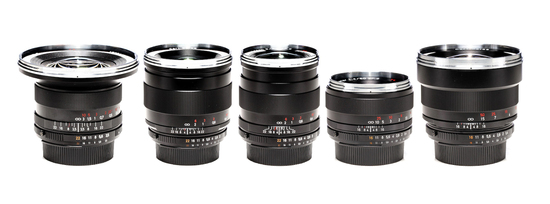 Rent A Zeiss Zf 2 5 Lens Set 18 85mm Canon / Nikon Mount In