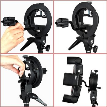 Rent Neewer® Photography S-Type Bracket & Four Speedlite Adapter Kit