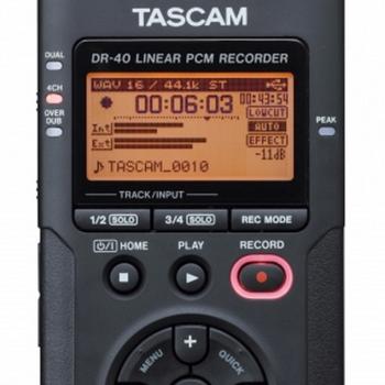 Rent Tascam DR-40 4-track Handheld Recorder
