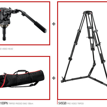 Rent Manfrotto Tripod combo 526 Fluid Head w/524 base