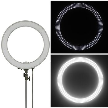 "Rent 240 LED 18""Ring Light Camera Photo/Video 240pcs LED SMD 5500K Dimmable (1% to 100%)+ 2 Color Filter + Universal Adapter with US/EU/UK Plug"