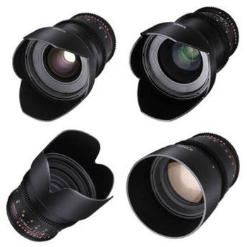 Rent Rokinon Cine DS 24mm, 35mm, 50mm, 85mm Lens Set for Canon Mount