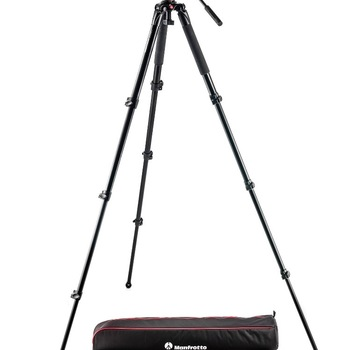 Rent Manfrotto MVK500AQ Spreaderless Video Tripod with MVH500A Fluid Head