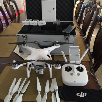 Rent DJI Phantom 3 Professional Quadcopter with 4K Camera and 3-Axis Gimbal with 3 Batteries