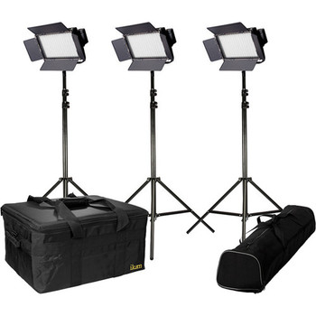 Rent ikan IFB576 Bi-Color 3-Point LED Light Kit with batteries