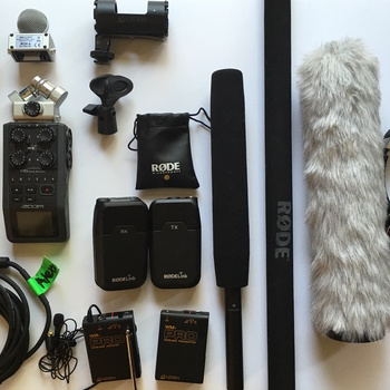 Rent Audio kit- Rode Lavs, Rode video mic pro+Azden shotgun zoom H4n, record audio to Iphone and more!!