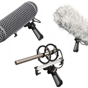 Rent Rode Blimp windshield suspension system w/ 10 ft boom pole and RODE NTG-2 Shotgun Microphone