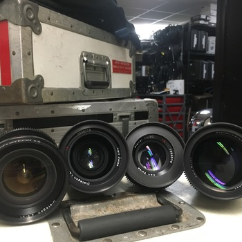 Rent Contax / Zeiss 4 Lens Set with Duclos Cine-Mod (MM)
