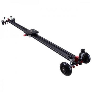 "Rent 40"" DSLR Camera Slider Dolly Track Video Stabilizer w/ Wheel"