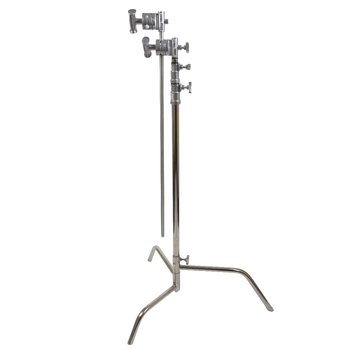 Rent Full size C-Stand with Gobo Head and Gobo Arm. Includes Sandbag