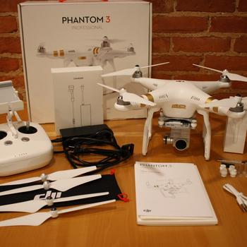 Rent DJI Phantom 3 Professional Quadcopter/Drone with Extra Batteries and Backpack
