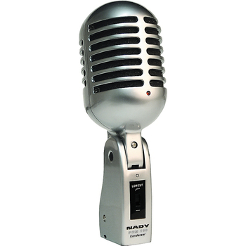 Rent Nady PCM-100-series 3-pack Elvis mic w/stands, cables; Classic Shure Hi-Ball style