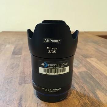 Rent Zeiss Milvus Prime EF 35mm f/2