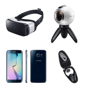 Rent Samsung 360 Film Kit 1: Gear 360 Camera, S6 Edge Phone, Gear VR Headset