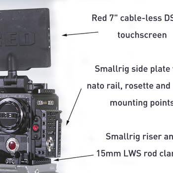 Rent Red Epic-W 8K S35 Helium, w. batts, media, and full aks set