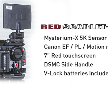 Rent RED Scarlet M-X Kit, w. batts, media, and full aks set
