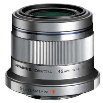Rent Olympus 45mm f1.8, silver