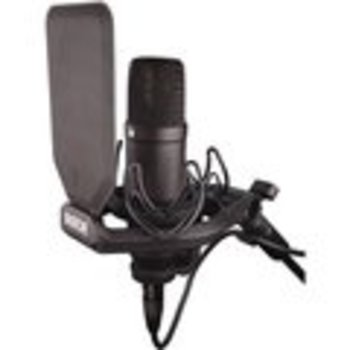 Rent Rode NT1 Black W/ desk mic stand, xlr pre-amp, cable