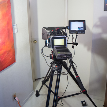 "Rent Blackmagic Production 4k Digital Film Camera w/Tripod, Batteries, Follow Focus, Slider, SSD Drives & 7"" Field Monitor"