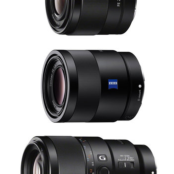 Rent Full-Frame E-mount Prime Lens Kit