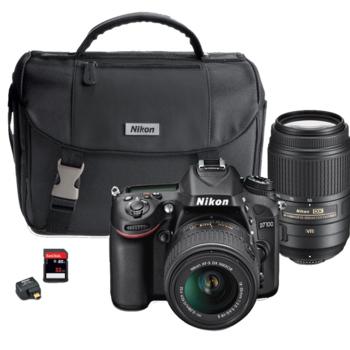 Rent Nikon D7100 + Wifi adapter to transfer photos to your phone + kit + 75-300 telephoto lens