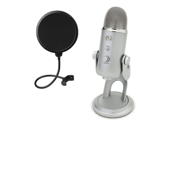 Rent Blue Yeti USB Condenser Microphone w/Dragonpad Pop Filter