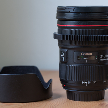 Rent Canon 24-70mm 2.8L II lens with removable gear ring
