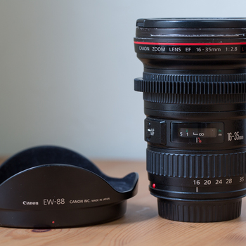 Rent Canon 16-35mm Lens with removable gear