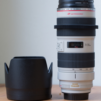 Rent Canon  70-200mm f2.8L IS II with removable gear ring