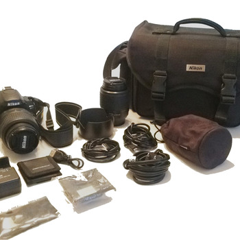 Rent Nikon D60 Digital Camera Kit with 18-55mm and a 55-200mm Lenses