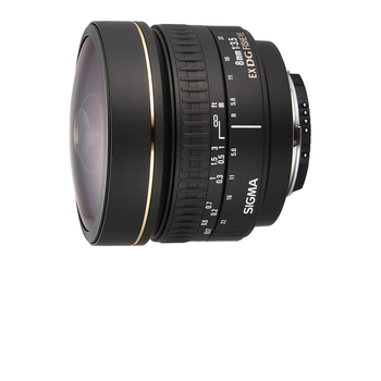 Rent Sigma 8mm f/3.5 EX DG Circular Fisheye Fixed Lens for Nikon Mount