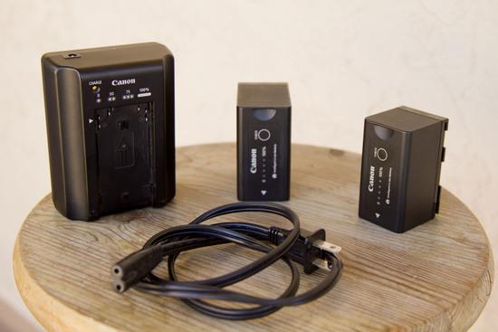 Canon c100 batteries